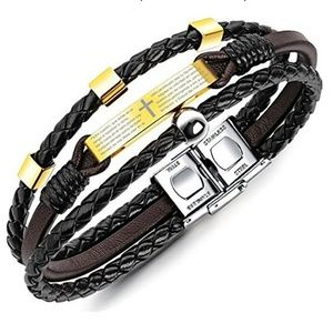 Other - Unisex Jewelry Leather Bracelet Religious Multi-la